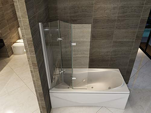 HNNHOMER 180° Pivot - Pantalla para bañera o ducha (cristal de 6 ...
