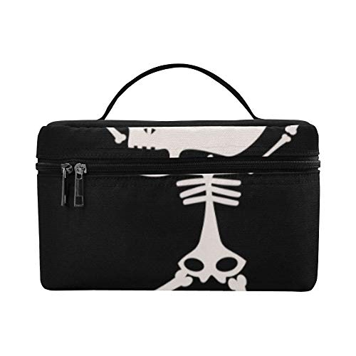 Cute Kawaii Skeleton Halloween Pattern Lunch Box Tote Bag Lunch Holder Insulated Lunch Cooler Bag For Women/men/picnic/boating/beach/fishing/school/work ()