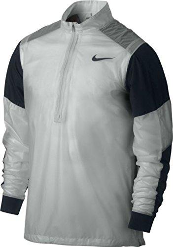 Nike Golf Herren HyperAdapt Wind Jacke halber RV leicht Pullover Top White/Grey