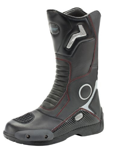 Joe Rocket Ballistic Touring Men's Boots (Black, Size (Chrome Heel Toe Boots)
