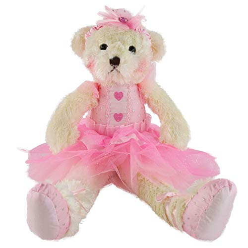 (Bstaofy Wewill Ballerina Teddy Bear Stuffed Animal Cute Soft Toy Plush Creative Doll, 15-Inch (Purple))
