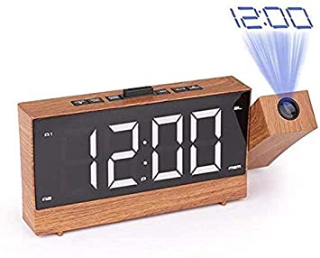 HYDDG Alarma Reloj de proyección Digital, Radio FM, de 1,8 ...