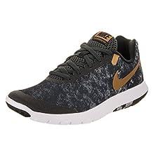 Nike Women's Flex Experience Rn 6 Prem Black/Metallic Gold/Anthracite Running Shoe 6 Women US