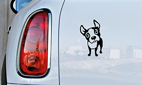 Dog Boston Terrier Version 1 Car Vinyl Sticker Decal Bumper Sticker for Auto Cars Trucks Windshield Custom Walls Windows Ipad Macbook Laptop and More (Terrier Dog Car Decal)