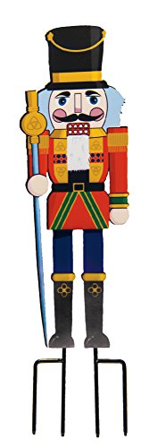 The Paragon Nutcracker Metal Yard Decoration - Create Instant Holiday Decor, Toy Soldier Silhouette Stake, Christmas Decorating, Easy Outdoor Sign