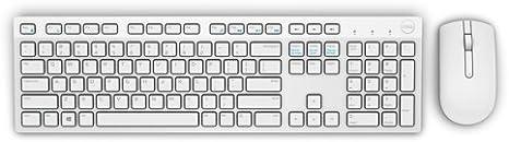 DELL KM636 - Teclado (Estándar, Inalámbrico, Bluetooth, QWERTY, Blanco, Ratón Incluido)