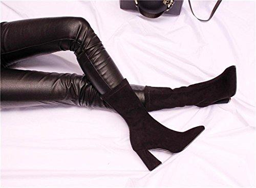 Gamuza 6 Eur Moda Eur38uk55 Puntiagudo Nueva Zapatos Dedo Cortas Otoño 39 De Botas 6 Nvxie Medias Tacón Personalizados Pie uk Áspero Del Mujeres 5 Invierno BxpwFnZ