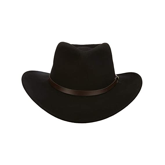 eb4ebd689d548 Scala Classico Men's Crushable Felt Outback Hat at Amazon Men's Clothing  store: Cowboy Hats