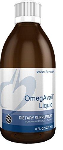 (Designs for Health 1200mg TG Fish Oil Liquid - Triglyceride Fish Oil with Natural Lemon Flavor, OmegAvail Liquid (8 oz, 48 Servings))