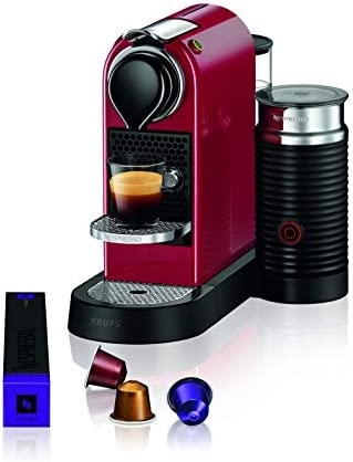 Krups Nespresso machine à café Machine à expresso autonome CITIZ & MILK rouge