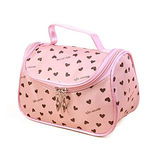 - Bag Japan - Side Zipper Cosmetic Bag Pink Storage Bags - Baby York Born Girl Newborn Cosmetic Yorker Balance Storage Bags Pink Makeup Case Pouch Pencil Cool Basket Batman Cloak Women Toile
