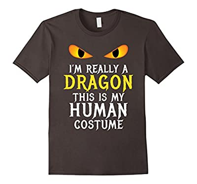 I'm Really A Dragon Halloween Costume Shirt Easy Funny