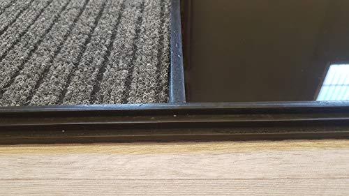 41GT0FlON3L Alfombra - Felpudo Desinfectante, Perfecto para desinfectar el calzado a la entrada de tu Hogar, Negocio, Trabajo ... Medidas: 60x80 cm Consta de 2 divisiones, una para el desinfectado a través de un líquido desinfectante y otra para el secado del calzado