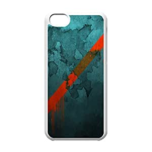 Cool iPhone 5C White Case,Texture Customized Hard Back Case for iPhone 5C iPhone 5Cs