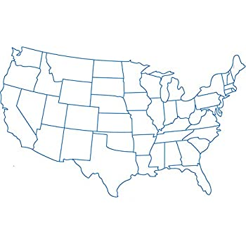 Amazon.com: Home Comforts Laminated Map - United States Map Coloring ...