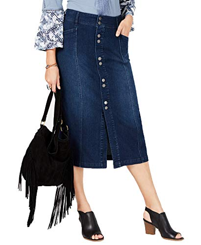(Style & Co. Petite Denim A-Line Skirt (Central, 6P))