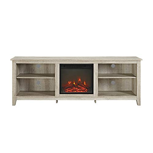 Cheap Thaweesuk Shop White TV Stand Media Fireplace Electric Heater Choose Color for TVS up to 75
