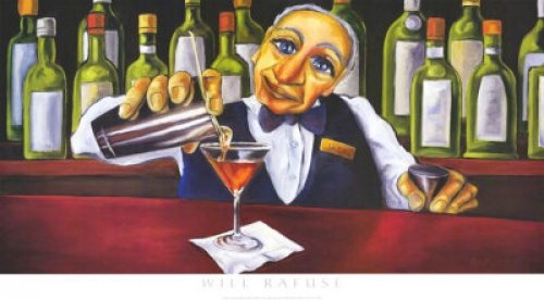 (Jack The Bartender - Art Print/Poster (Artist: Will Rafuse) (Size: 20 inches x 11 inches))