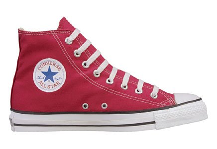 Converse Unisex Chuck Taylor All Star Hi-Top Shoes, Maroon, 11.5 B(M) US Women / 9.5 D(M) US Men