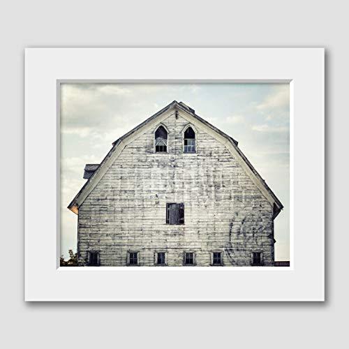 Farmhouse Home Decor Gray Barn Matted 8x10 Photograph Print (fits 11x14