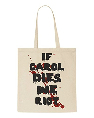 Fan Riot If Natural Zombie We Tote Sublimation Parody Carol Shopper Dies Bag WCIxInSq