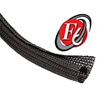 Techflex 3/4 F6 Split Sleeving 50 ft. Black by Techflex