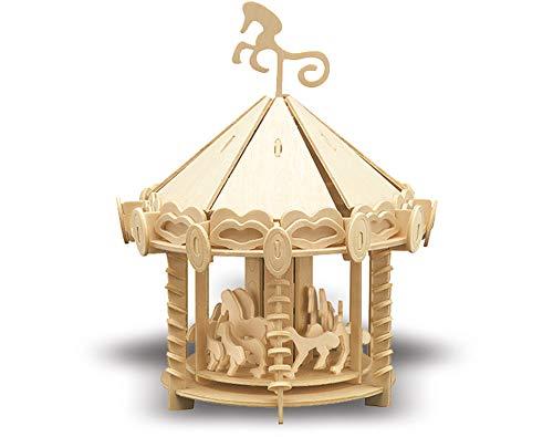 Siva Toys Siva Toys870/2 Wood Construction Carousel Die-Cast Model