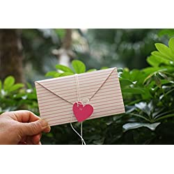 JINSRAY 6-Pack/Set Thank You Cards/Invitation Blank Card, Stationery, Greeting Note Cards, Great Idea For Child Gift Or Exchange Card Project, Unique Love Heart Design Style