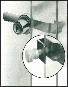 Glass Showcase Lock Ratchet Glass Cabinet Display Case