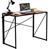 VECELO Writing Computer Folding Desk/Sturdy Steel Laptop Table for Home Office Work