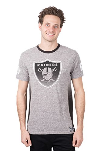 - ICER Brands Adult Men T Vintage Ringer Short Sleeve Tee Shirt, Gray, Medium