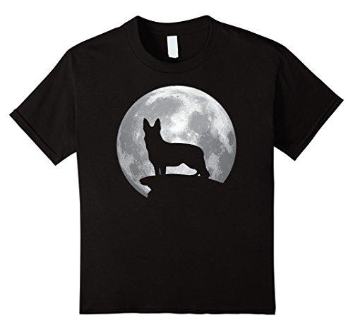 Kids German Shepard And Moon T-shirt For German Shepard Lovers 8 (Shepard Costumes)