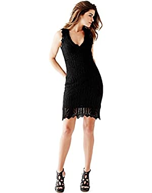 Guess Women's Pointelle-knit Bodycon Dress