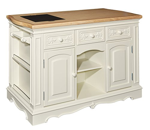 Powell White Kitchen Island, Multicolor
