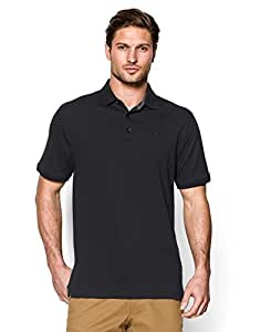 Under Armour Men's UA Performance Cotton Pique Polo Large Black