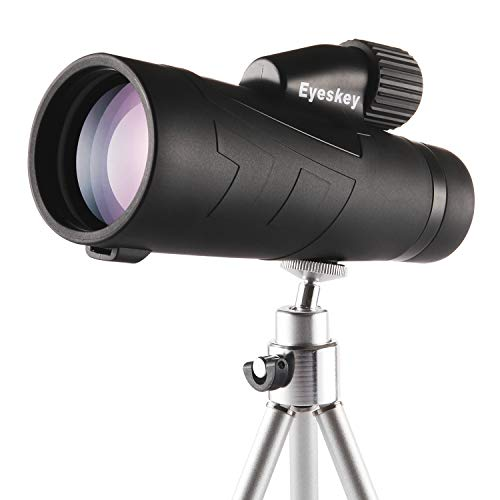 Monocular Telescope, 10x50 Monocular with Smartphone Mount Adapter, Bright and Clear with Retractable Eyepiece,Comes with Tripod, Hand Strap, Cleaning Cloth, Case