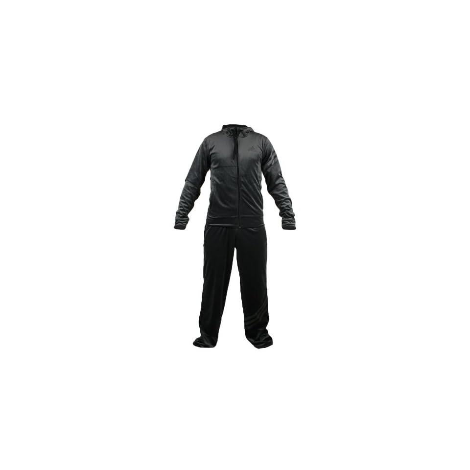 Adidas Velour Tracksuit   Black (Men)   Large