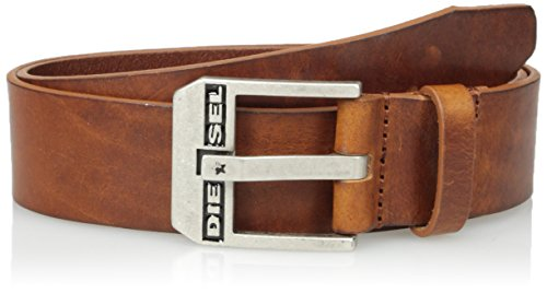 Diesel Mens Brown Leather - Diesel Men's Bluestar Leather Belt, Lion, 100