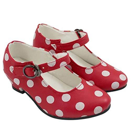 30 Lunares T Sevillana Blancos Con Zapatos Rojos qy16R7B