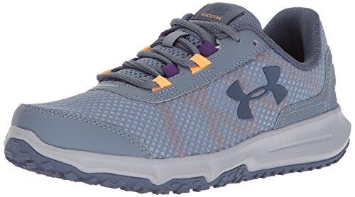 Under Armour Women's Toccoa Running Shoe, Gravel (001)/Orange Peel, 8
