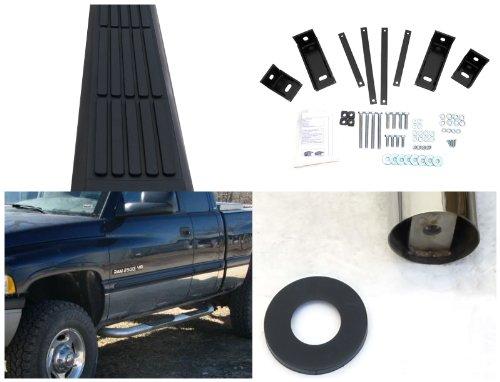 Spec-D Tuning SSB3-RAM94QCS2-WB Dodge Ram 1500 2500 3500 Quad Club Cab 3'' Stainless Side Step Nerf Bar