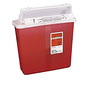8507SA- Container Sharpstar In-Room Mailbox Lid Red 5qt Ea by, Kendall Company