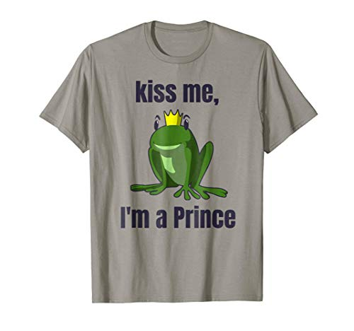 Kiss Me T-Shirt Easy Funny Frog Prince Halloween Costume -