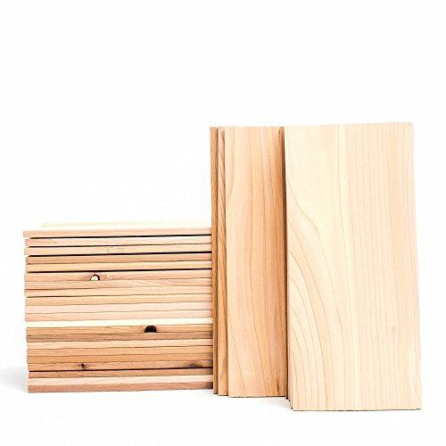 """Cedar Grilling Planks - Bulk - 30 Pack - 2-4 Servings (5""""x11"""") - (2nds) - Western Red Cedar"""