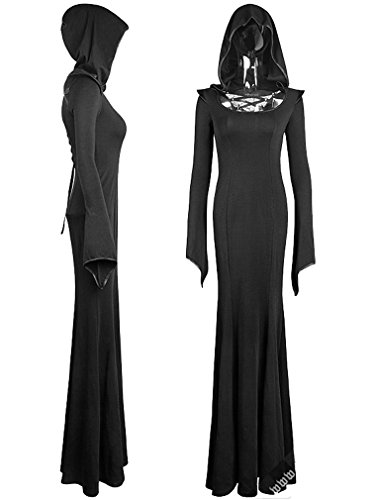 KLEID Womens Dress Hooded ENCHANTRESS Gothic TFw1xq