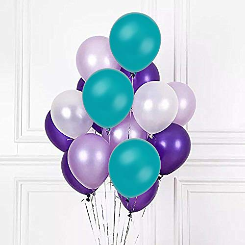 Sorive White Purple Dark Purple Sea Foam Blue Assorted Balloons 12