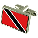 Trinidad & Tobago Sterling Silver Flag Cufflinks