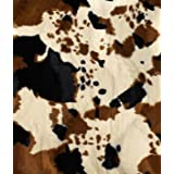 Tan Cow Velboa Faux Fur Fabric - by the Yard