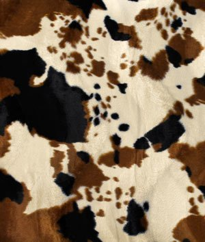 Tan Cow Velboa Faux Fur Fabric - by the Yard (Rustic Yard By Fabric The)