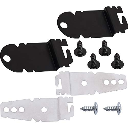 Ultra Durable 8212560 & 8269145 Dishwasher Side Mounting Bracket Kit with Screws Replacement by Blue Stars - Exact Fit for KitchenAid Whirlpool Kenmore Dishwashers
